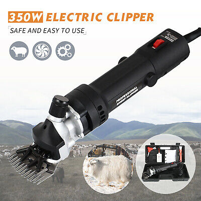 350w Electric Supplies Sheep Goat Shears Animal Shearing Grooming Clipper Black