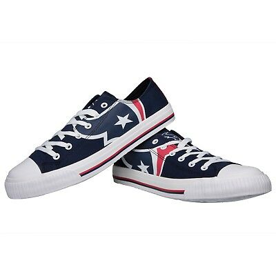 - Houston Texans Big Logo Low Top Sneakers Team Color Shoes US Men's Sizing