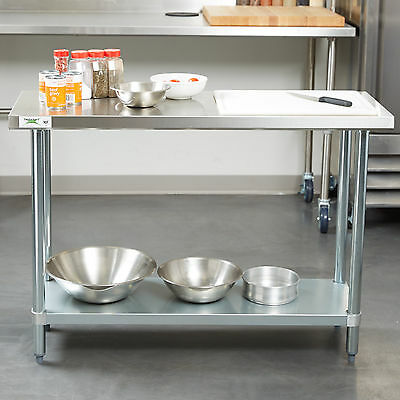 18 X 48 Stainless Steel Work Prep Shelf Table Commercial Restaurant 18 Gauge