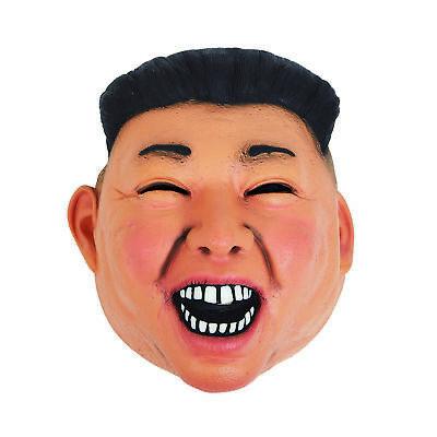 Herren Kim Jong Un Maske Vinyl Diktator Koreanisch President Kostüm - Un Kostüm Koreanisch