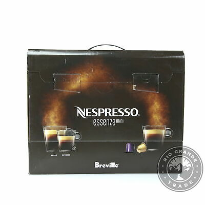 NEW Nespresso BEC220GRY1AUC1 Essenza by Breville Coffee Machine in Silver - Mini