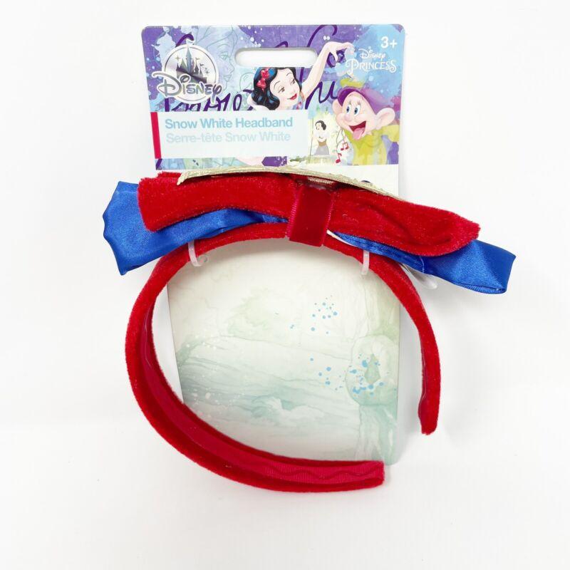 Disney Parks Snow White Princess Costume Headband Girl Apple 7 Dwarves Satin New