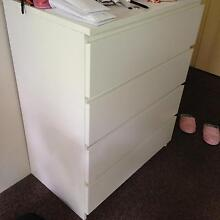 IKEA MALM chest of 4 drawers 80x100 cm (white) Westmead Parramatta Area Preview