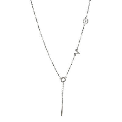 """Love Lariat """"Y"""" Necklace - 925 Sterling Silver - Word Gift Y Necklaces NEW"""