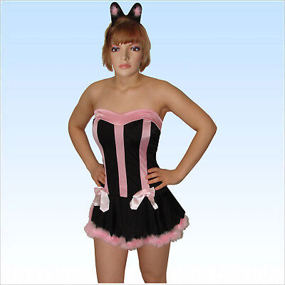 Sexy Bunny Kostüm Gr. 36 -38 Hase Hasenkostüm Hostess Bunnykostüm Kleid Karneval