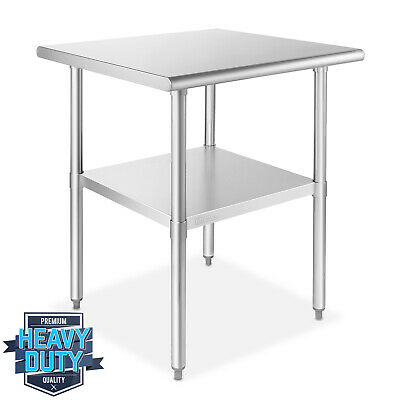 Open Box - Stainless Steel Commercial Kitchen Prep Work Table 24 In. X 24 In.