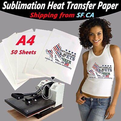 50 Sheeta48.5x11.5heat Transfer Sublimation Paper 4 Whitelight Color T-shirt
