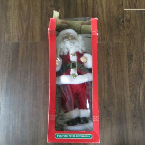 Vintage Kmart Trim A Home Figurines With Movements Christmas Santa With Light