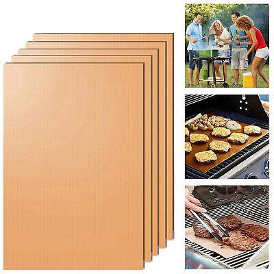 5er Dauer BBQ Grillmatte Unterlage Backmatte /& Antihaft-Bratfolie aus Glasfaser