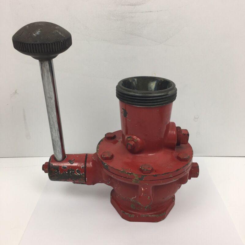 Vintage BRASS Fire Hydrant Pond Truck Valve Shutoff Lock LTD-38