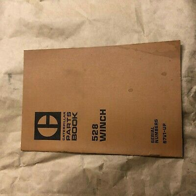 Caterpillar Cat 528 Skidder Winch Parts Catalog Manual Sn 67v1-up Used