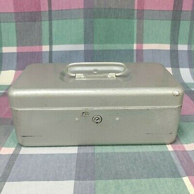 Vintage Metal Lit-ning Products Company Money Box With Coin Tray Made In Usa