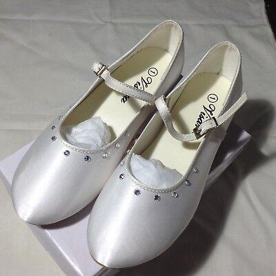 Girls Ivory First Communion / Bridesmaid  Wedding Shoe size uk 1 bnib