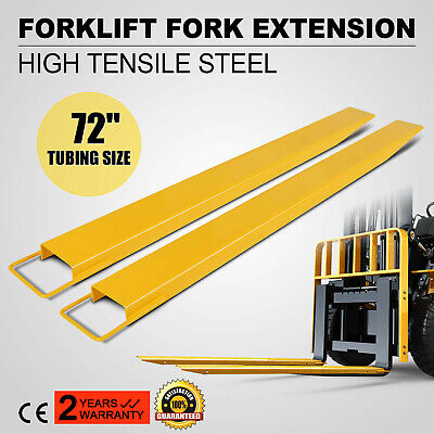 72x5.8 Forklift Pallet Fork Extensions Pair Truck Steel Construction Heavy Duty