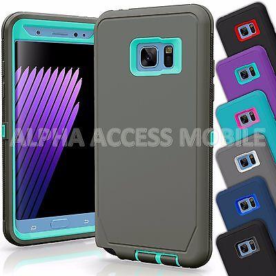 Samsung Galaxy S7 / S7 Edge Case Cover Shockproof Hybrid Hard Rugged Rubber TPU