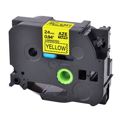 1pk Compatible For Brother Tz651 Tze651 Black On Yellow Label Tape P-touch 0.94