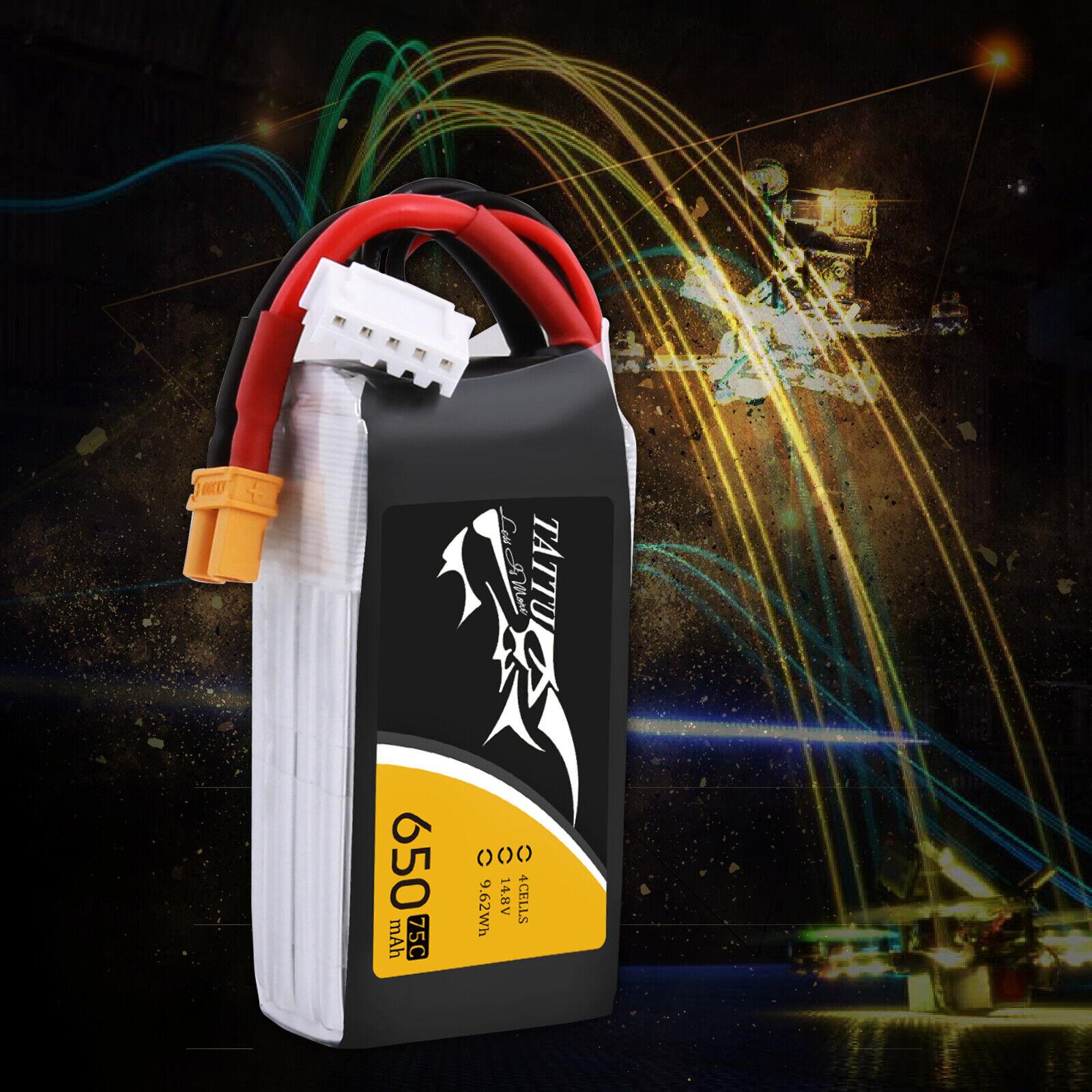 TATTU 650 mAh 11.1 V 75 C 3S1P Lipo Battery Pack with XT30 Plug ...