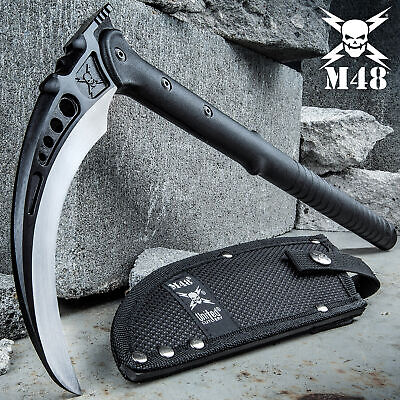 "15 1/2"" M48 Tactical Kama MARTIAL ARTS Training Weapons KARATE Sharp w/sheath"