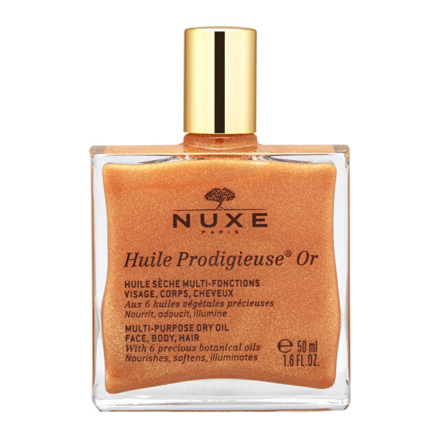 1 PC NUXE Huile Prodigieuse OR Multi-Usage Dry Oil Golden Shimmer 50ml Natural