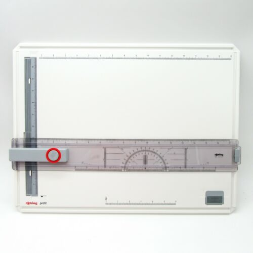 Rotring Profil Drawing / Drafting Board With Case Straight Edge