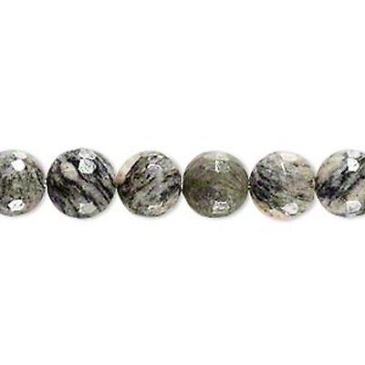5967 Jasper Beads 'Spiderweb' Round 8mm 7inch  *UK EBAY SHOP*
