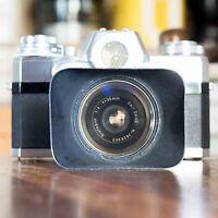 Carl Zeiss Ikon Contarex Bullseye Distagon 35mm 1:4 + Matching Hood - electrolux rex - ebay.it