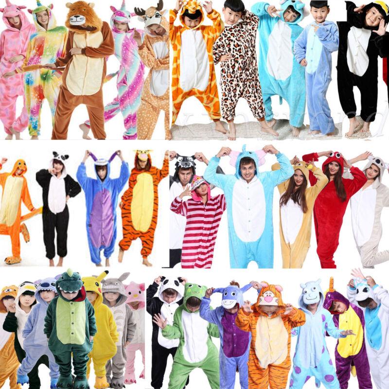 Tier Overall Kinder Karneval Cosplay Kostüm Kigurumi Nachtwäsche Pyjama Jumpsuit