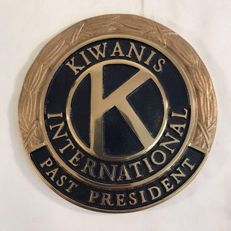 "Kiwanis International Large Brass Heavy Duty Logo Emblem 7"" (HD31)"