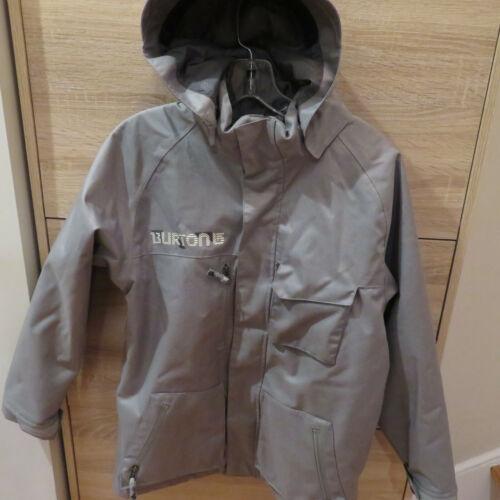 Burton DryRide Boys Grey Hooded Sz XL 14/16 Insulated Snowboard Snow Ski Jacket