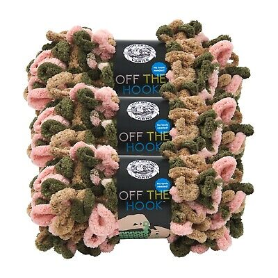 Lion Brand Yarn 516-207 Off the Hook Yarn, Dirty Martini (Pack of 3 Skeins)