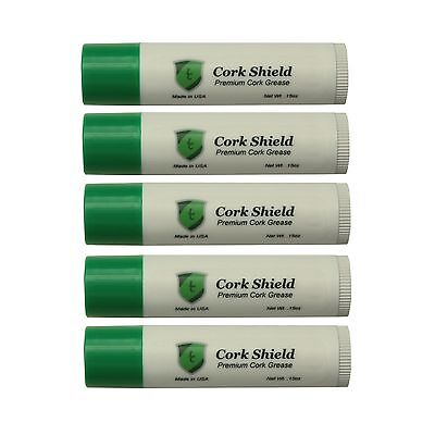 5 Tubes Premium Cork Grease, Clarinet, Saxophone, Oboe, w Beeswax!