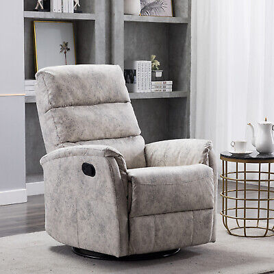 Swivel Rocker Recliner Chair Baby Rocking Padded Seat Armchair Nursery Furniture