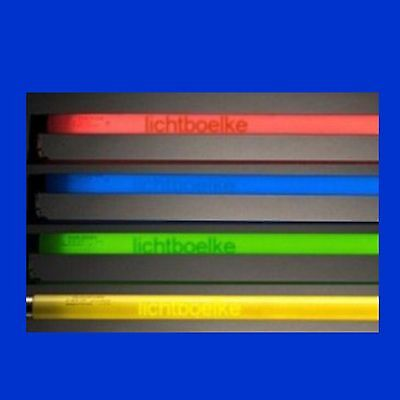 FARBIGE / Schwarzlicht  LEUCHTSTOFFRÖHRE LEUCHTSTOFFLAMPE 15W - 58W 45cm - 150cm (Leuchtstoff Schwarz Licht)