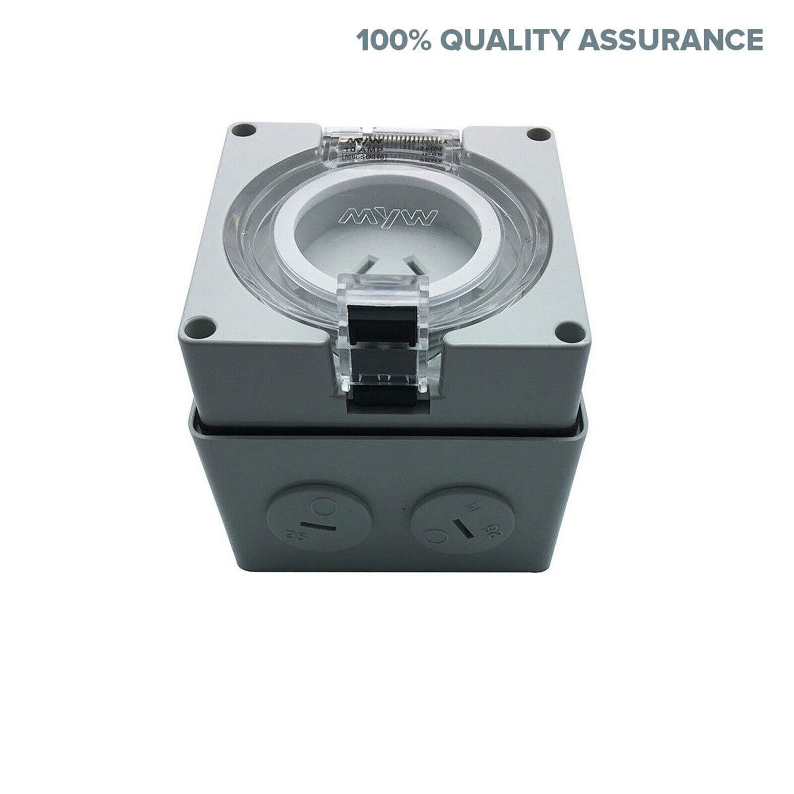 10a Amp Single Phase 3 Pin Socket Outlet For Caravan Ip66