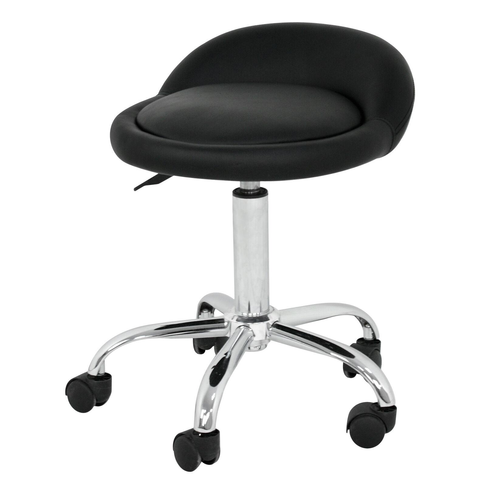 Adjustable Salon Stool Hydraulic Saddle Rolling Chair Tattoo Facial Massage Spa Health & Beauty
