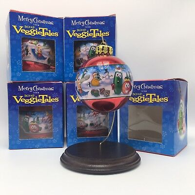 5 NEW Veggie Tales Merry Christmas Ornaments 2006 Big Ideas Bob Larry Petunia - Christmas Ornaments Ideas