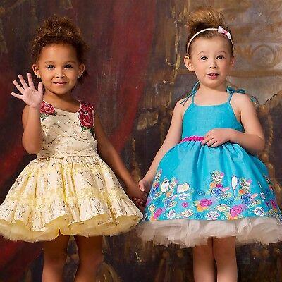 Disney Tutu Couture Dress Girls Belle Petti Beauty & the Beast Rose Mrs. Potts