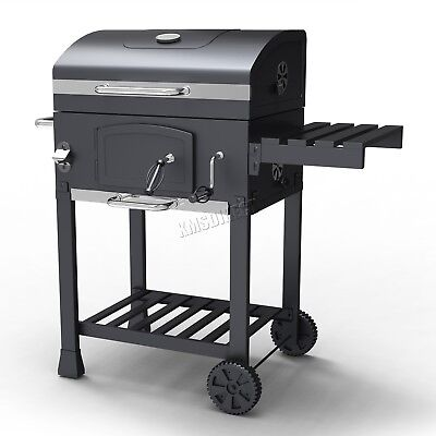 HEATSURE Charcoal BBQ Grill Barbecue Smoker Grate Garden Portable Outdoor Grey tweedehands  verschepen naar Netherlands
