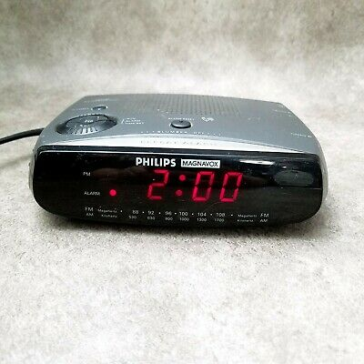 Vintage Philips Magnavox Dual Alarm AM FM Clock Radio AJ-3080/17