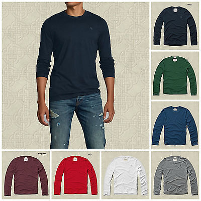 NWT ABERCROMBIE FITCH MENS MOOSE CREEK TEE LONG SLEEVES SIZES S, M, L, XL, XXL