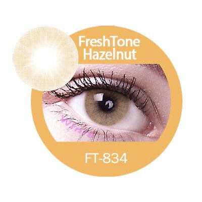 Freshtone Super Naturals Hazelnut - farbige Kontaktlinsen 3 Monatslinsen braun