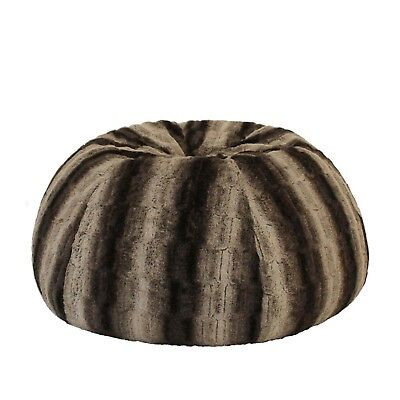 WOLF FUR BEANBAG Cover+Liner Deluxe Soft Bean Bag Lounge Chair Rich Earthy (Deluxe Bean Bag Chair)