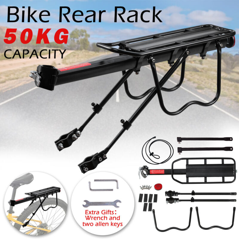 Mountain Bike Rear Rack Carrier Bicycle Seat Post Pannier Luggage Cargo Holder