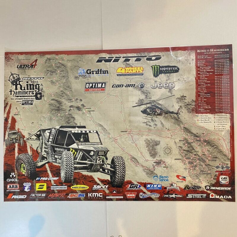 2018 Nitto King of The Hammers & Smittybilt Every Man Challenge Event Race Map