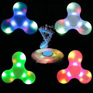 Lote-Venta-Por-Mayor-10-x-LED-Altavoz-Bluetooth-Hilandero-de-mano-Fidget-torqbar