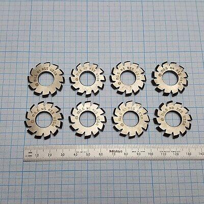 Involute Gear Cutter Set M06 Pa20 Hss 1-8 Spline Modulfrser Satz