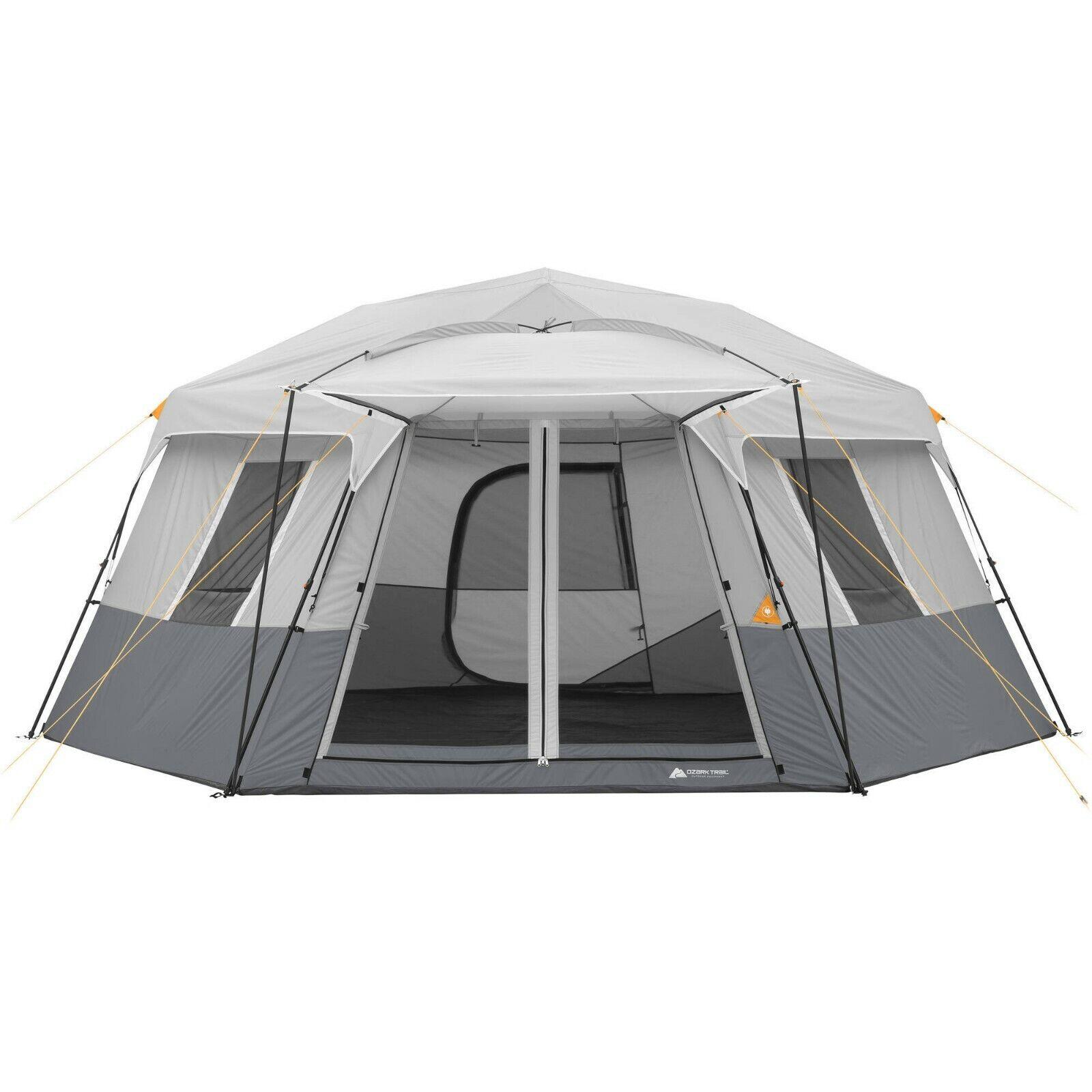Ozark Trail 17' x 15' Person Instant Hexagon Cabin Tent, Sle