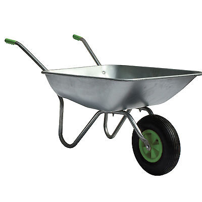 New 65L Wheelbarrow Home Garden Cart with Galvanised Pneumatic Tyre