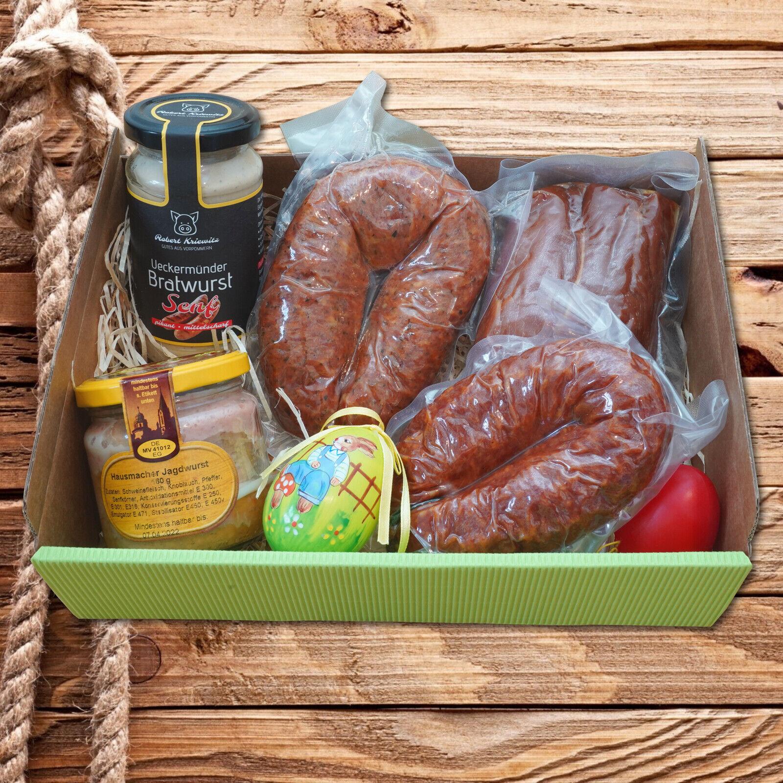 Präsentkorb Osterbox - Wurstkorb - Geschenkidee - Spezialitäten vom Erzeuger