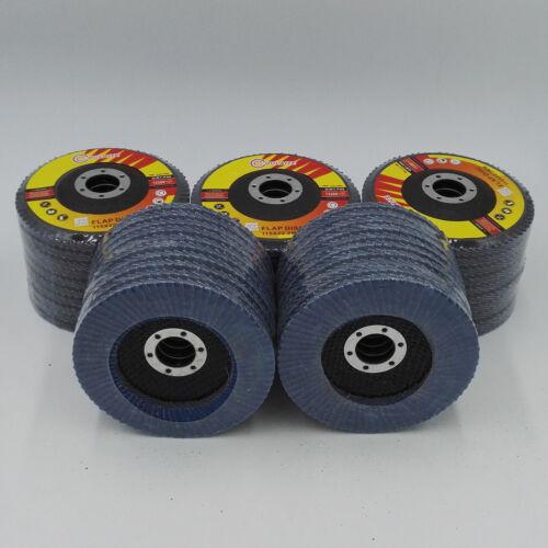 """50 Pack 60 Grit 4.5"""" Flap Disc Abrasive Sanding Wheels Grinding Wheels"""